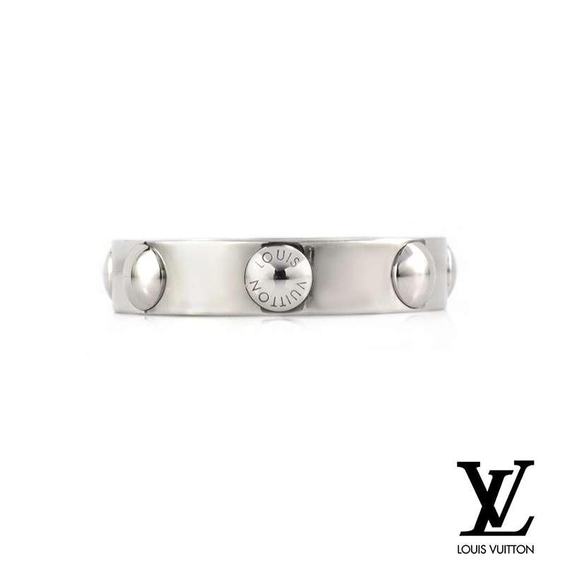 Louis Vuitton White Gold Empreinte Ring